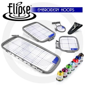 Elipse 4-Hoop Embroidery Package